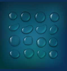 different water drops clipart transparent liquid vector image