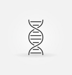 Dna minimal concept icon in outline style vector