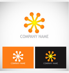 dot star shine connect logo vector image