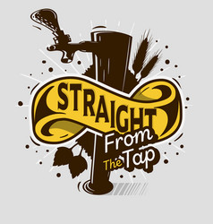 Draft beer tap artistic cartoon tatoo style prin vector