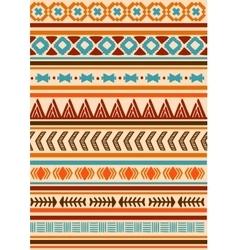 Ethnic indian pattern Aztec navajo vector