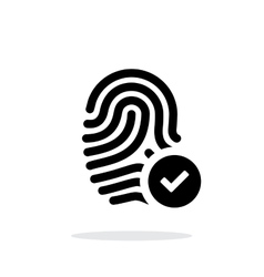 Fingerprint accepted icon on white background vector image