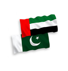 Flags united arab emirates and pakistan vector