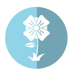 Flower romantic natural icon shadow vector