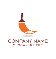 Fox paint logo inspiration vector