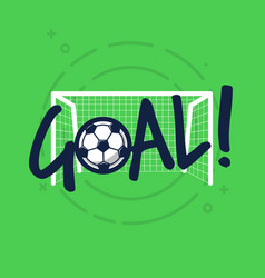 goal sign for football or soccer game vector image