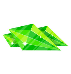 green jewelry emerald icon vector image