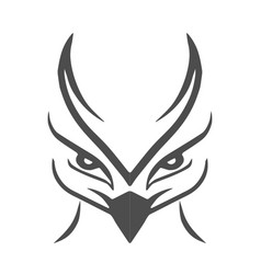 grey eagle logo vector image