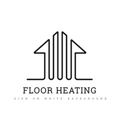heating floor sign on a white warm floor vector image