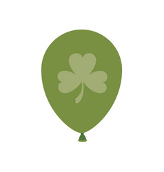 helium green balloon with clover isolated icon vector image