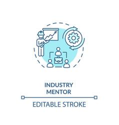 Industry mentor concept icon vector