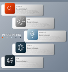 infographic elements 5 options vector image
