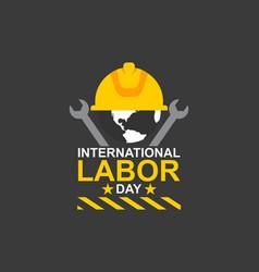 International labor day logo vector