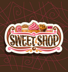 Logo for sweet shop vector