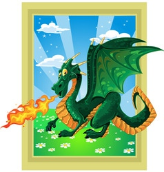 magical dragon vector image