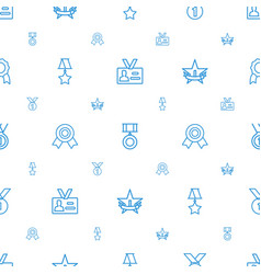 medal icons pattern seamless white background vector image