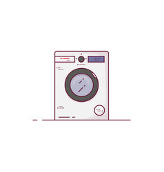 modern washing machine line style vector image