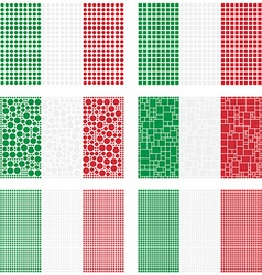 Mosaic Italy flag set vector