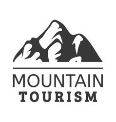 Mountain icon badge vector