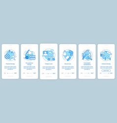 Nursing care onboarding mobile app page screen vector