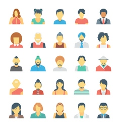 People Avatars Colored Icons 3 vector