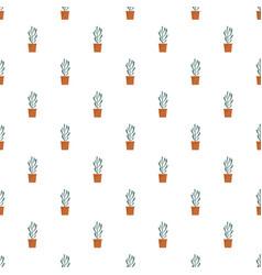 plant tree cactus pattern seamless vector image