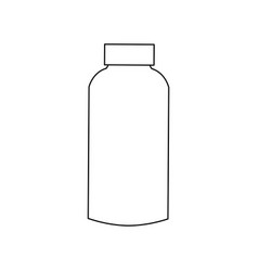 plastic blank bottle with cap packaging vector image