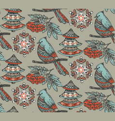 seamless pattern with presents stars and vector image