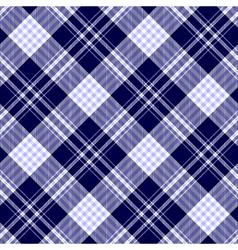 Seamless plaid pattern in pale blue dark navy blue vector