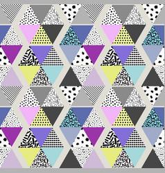 Seamless quilt pattern vector