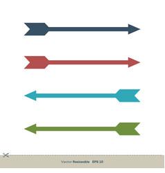 Set colorful arrowhead logo template design eps 10 vector