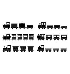 set kid trains vector image