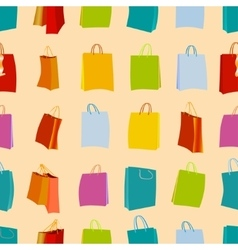 Shopping bags seamless vector image