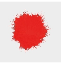 spot of red paint Round spot of paint vector image