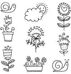 Spring theme hand draw vector
