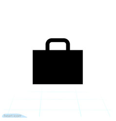 suitcase icon travel business baggage flat logo vector image