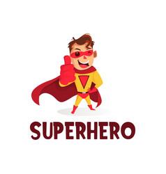 super hero thumb up mascot character logo icon vector image