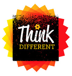 think different creative brush typography vector image