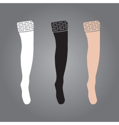 Three types of woman stockings eps10 vector