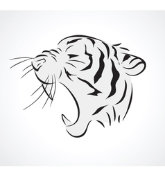 tiger side vector image