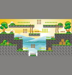 tile set platform for game 28 vector image