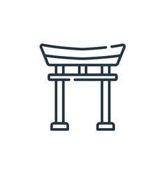 Torii gate icon torii gate editable stroke torii vector
