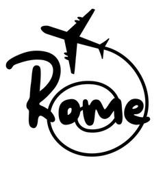 Travel rome vector