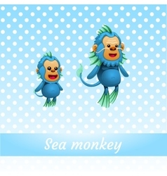 Two funny sea monkeys from the depths of the ocean vector
