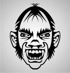 Vampire Face Tribal vector