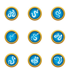 Viper icons set flat style vector