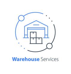 Warehouse services distribution center vector