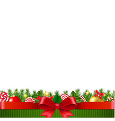 xmas garland white background vector image
