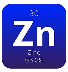 Zinc chemical element vector image