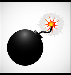 bomb realistic icon vector image